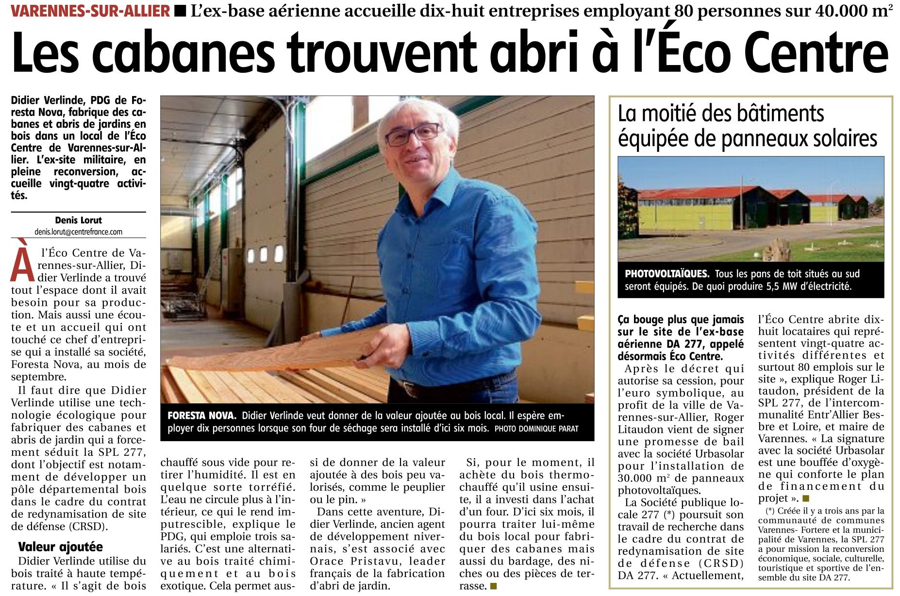 L'Eco Centre de Varennes tourne à plein régime – La montage du 24/10/2017