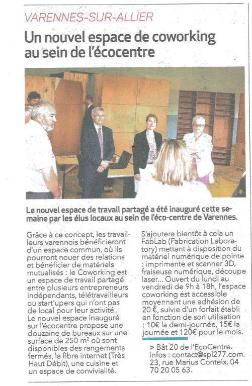 Inauguration Coworking de l'Ecocentre