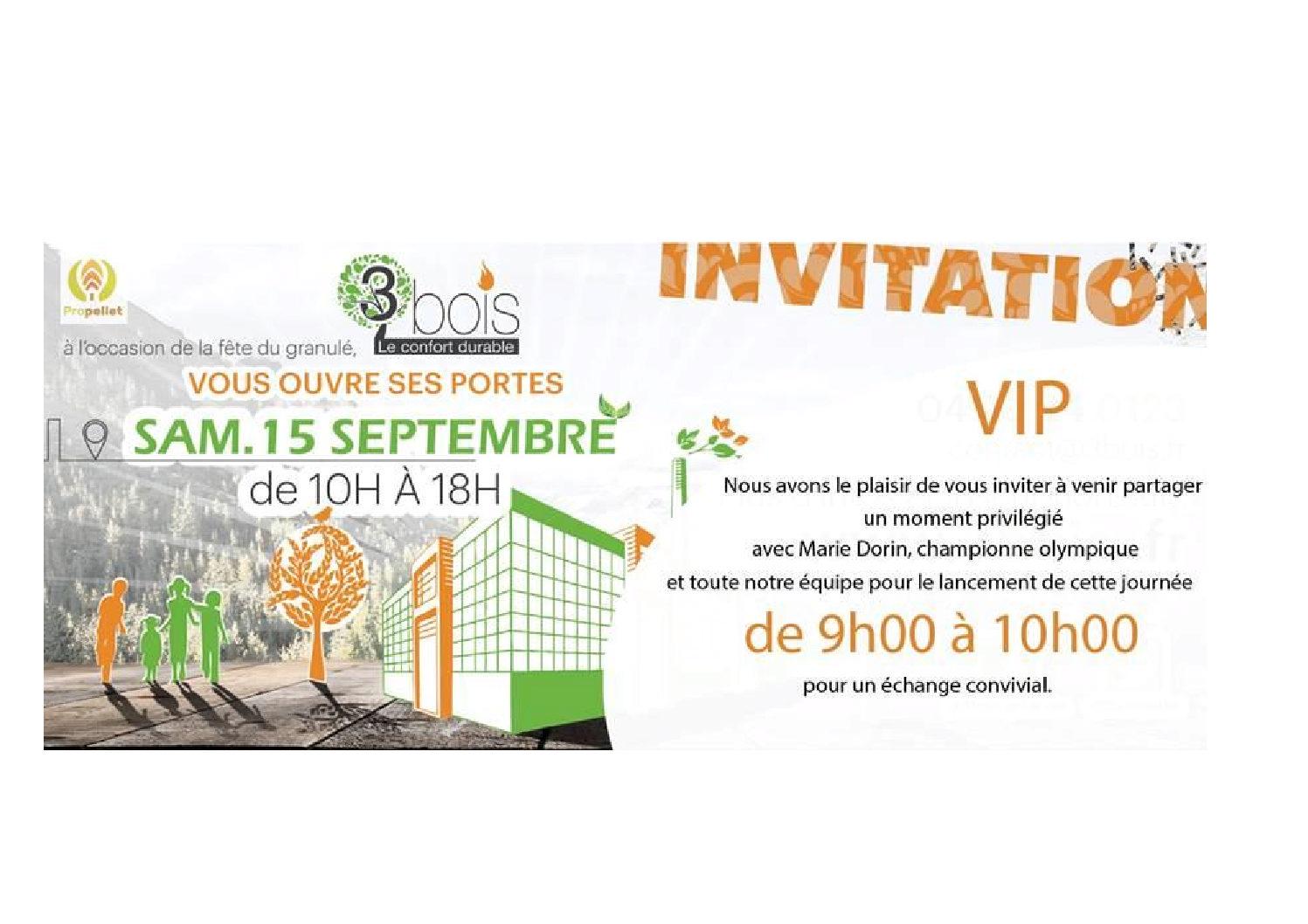 Invitation Fête du granulé 3BOIS