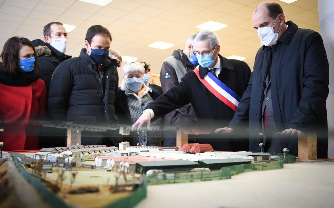 Visite du Premier Ministre Jean Castex à l'Eco Centre de Varennes-sur-Allier